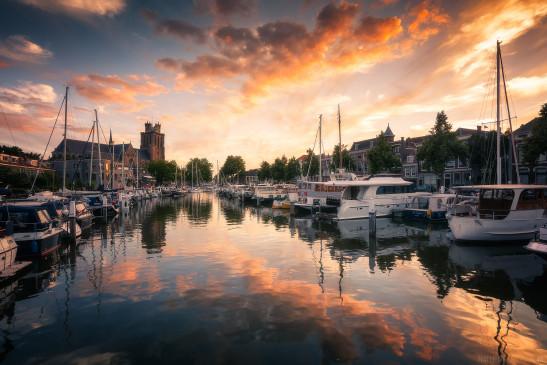 Zonsondergang Dordrecht